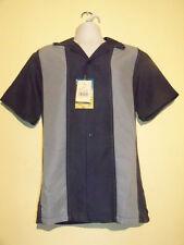 Milano Bay Hawaiian Men's Shirt  Blue Stripe New NWT
