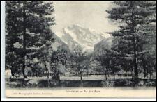 INTERLAKEN Kanton Bern Schweiz ~1900 Partie a.d. Aare