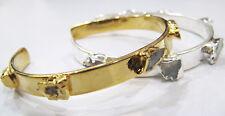 Fabulous Opal Gemstone Adjustable Silver & Gold Plated Handmade Bracelet Jewelry