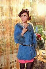 Fur Rabbit Raccoon Cuff Collar Women Coat Jacket Overcoat Garment Clothing