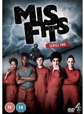 Misfits: Season Two (DVD, 2013, 2-Disc Set) Region 1  BBC.   (S17)