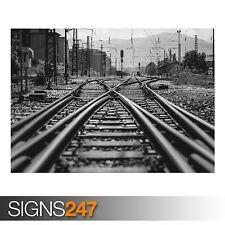 Ferrovia TRENO (ab018) POSTER-Foto con POSTER ARTE STAMPA a0 a1 a2 a3 a4