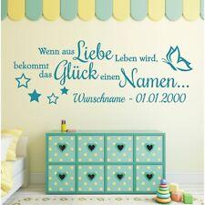 Wandtattoo Spruch Liebe Leben Glück Namen Wunschname Wandsticker Aufkleber 3