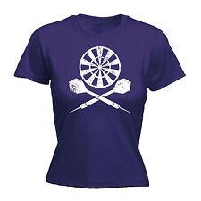 Dart Board Cross T-Shirt Femme Darts Joueur Ligue flèches drôle cadeau d'anniversaire