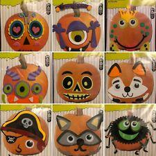 Pumpkin Decorating Kit Crafts Stickers Various Designs & Colors You Choose