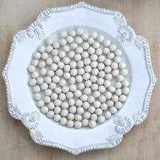 1cm WHITE Felt Wool Balls - CHOOSE QUANTITY - handmade beads pom poms diy craft