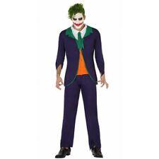 Costume JOCKER clown ADULTO Batman UOMO HALLOWEEN HORROR Carnevale FANCY DRESS
