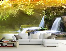 3D Courante Arbre 1 Photo Papier Peint en Autocollant Murale Plafond Chambre Art