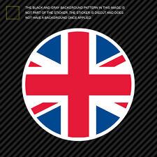 Round Union Jack Sticker Die Cut Decal UK british united kingdom england flag