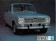 Renault 6 850 1969-70 UK Market Sales Brochure