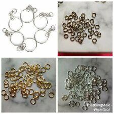 Key Ring Keychain Jump Rings Split Rings Craft Silver Gold Bronze DIY Blanks