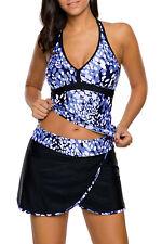 new blue spot 2 piece tankini skirt set size 8-22