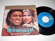 45 rpm w/PIC SLEEVE Jermaine Jackson/Pia Zadora WHEN RAIN BEGIN TO FALL Curb NM-