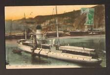 """ORAN (ALGERIE) BATEAU """"LE LEGER"""" , AVISIO au PORT ,1914"""