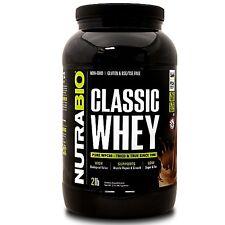 NutraBio Classic Whey 2lb 100% Whey Protein Concentrate Non-GMO USDA Kosher Whey