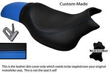 Negro Y Azul Claro personalizado se adapta a Hyosung Gv 650 Aquila 04-11 Doble Cubierta De Asiento