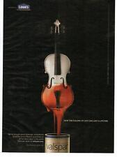 2009 Lowe's Valspar Ultra Premium Paint Cello Magazine Print Advertisement Page