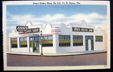 FT. PIERCE Florida ~ 1954 ANN'S COFFEE SHOP ON U.S. # 1