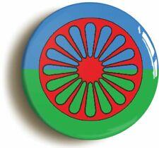 GYPSY ROMA TRAVELLER SYMBOL FLAG BADGE BUTTON PIN