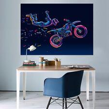 3D Motorcycle 2 Wall Stickers Vinyl Murals Wall Print Deco Art AJ STORE AU Lemon