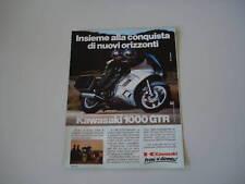 advertising Pubblicità 1986 MOTO KAWASAKI 1000 GTR