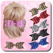 Haarklammer Haarspange Schnabelspange Spange Schleife Paillette 11,5 cm Stoff