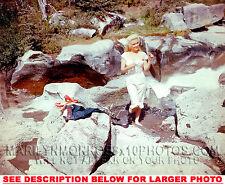 MARILYN MONROE ON THE ROCK at NIAGARA 1xRARE4x6 PHOTO