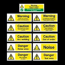 Avvertimento cautela / / pericolo / saldatura / rumore-PLASTICA Firmare, Adesivo-Tutte le Taglie