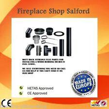 stove flue pipes 125mm 150mm for wood burning stove log burner multi fuel stoves