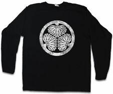 ? Tokugawa clan logotipo mon manga larga T-Shirt Oda Nobunaga? Tokugawa Leyasu Ninja bandera