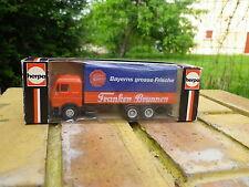 HERPA HO 1:87 MERCEDES camion baché Franken Brunnen comme neuf en boite