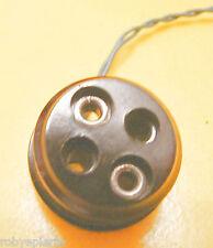 Presa elettrica giocattolo vintage rotonda a due poli anni '50 diametro 2,8 cm
