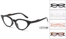 Elegant Cat Eye Clear Lens Glasses Vintage Retro Classic Eyewear Cateye UV 100%