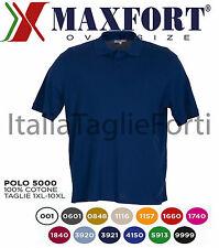 TAGLIE FORTI UOMO MAXFORT 5000 POLO MANICA CORTA MAGLIA MEZZA MANICA T-SHIRT