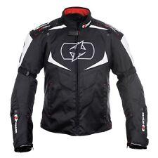 Oxford MELBOURNE 2.0 hommes veste noir de moto textile imperméable/Blanc