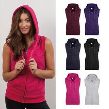 AWDis Girlie Sleeveless Zoodie - Women's plain gym/yoga/casual zipped hoodie