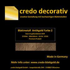 Schlagmetall Antikgold F 2 lose 16x16 im Seidenpapierheftchen Deutsche Qualität