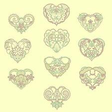 Candlewick & Satin Heirloom Hearts Machine Embroidery Designs-40 Anemone Designs
