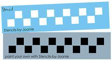 "Country STENCIL small Check Border Folk Art Primitive Craft Signs 3/4"" squares"