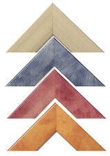 4x Holz Bilderrahmen Florida Set in 4 Farben blau, rot, orange, natur,  ab 13x18