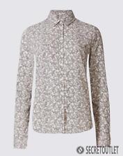 M&S Classic Ditsy Floral Print Long Sleeve Shirt