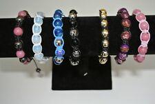 Colourful Classic, Shiny,Sparkly, Pave, Beady Cord Bracelets