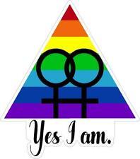 USA Gay Pride Oval Bumper Sticker or Helmet Sticker D2875 Euro Oval