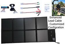 12V 120W Folding Solar Blanket, Black Silicon Panel, Customized configuration.