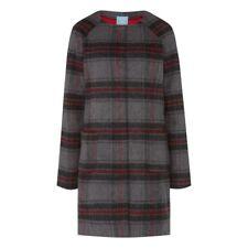 Tulchan Collarless Check Coat - Elephant Grey - Sizes 10 12 14 16 - BNWT