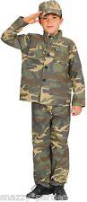 RAGAZZI azione Commando Militare Esercito Forza Costume Libro Settimana Costume Età 3-10