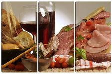 Quadro moderno arredo casa AFFETTATI ristorante 95X150 salumi vino chef salame