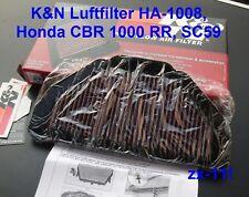 K & N Luftfilter Set Honda CBR 1000 RR, SC59, HA-1008, CBR1000, SC 59, K&N, K+N
