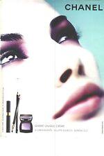 PUBLICITE ADVERTISING 2003   CHANEL  cosmétiques ombre unique creme