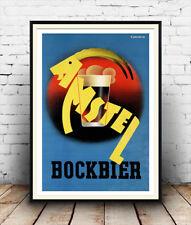 Amstel Bockbier Vintage Poster Publicitario la reproducción.